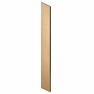 Locker End Panel,Slope Top,18 D,Maple