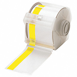 "White/Yellow Vinyl Film Label Tape Cartridge, Indoor/Outdoor Label Type, 100 ft. Length, 2-1/3"" Widt"