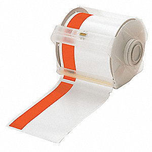 Printer Tape,White/Orange,100 ft. L