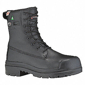 BOOT SAFETY 8IN Z MET WTPF BLACK