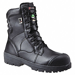 BOOT SAFETY 8IN ZERO METAL BLACK