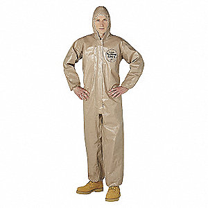 COVERALL,TYCHEM 5000,HOODED,TAPED,MD