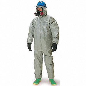 COVERALLS TYCHEM REPS FIT HOOD LGE