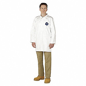 LABCOAT TYVEK NO/PCKTS SZ 2XL