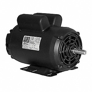 7-1/2 HP Air Compressor Motor,Capacitor-Start/Run,1745 Nameplate RPM,208-230 Voltage,Frame 213/5T