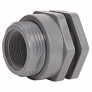 BULKHEAD FITTING, 1 IN, CPVC, EPDM
