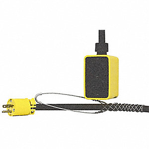 25 ft. Indoor/Outdoor Pendant Drop Outlet Box, 15 Max. Amps, Yellow