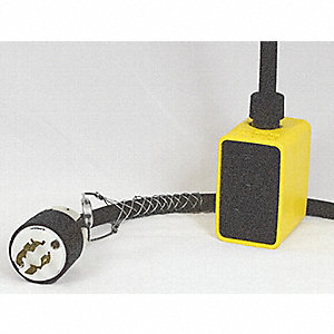 25 ft. Indoor/Outdoor Pendant Drop Outlet Box, 20 Max. Amps, Yellow