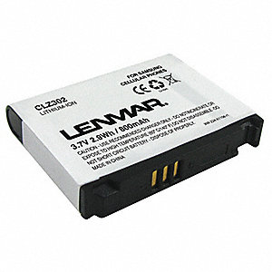 Samsung Cellular Phone Battery, Lithium-Ion, 800mAh, 1 EA
