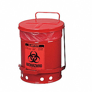 Biohazard Waste Container,15 In. W