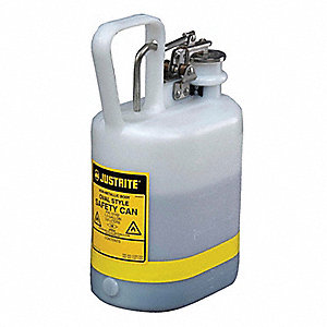 1 gal. Type I Safety Can, Used For Flammables, White&#x3b; Includes Current Carrying Carbon