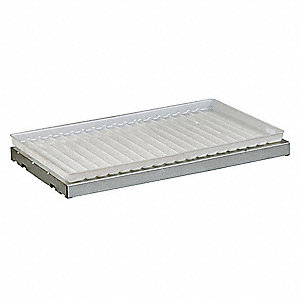 SpillSlope Shelf with Tray,19-5/8 In. W