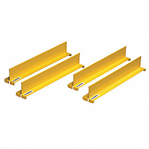 "Shelf Divider Set, Steel, Yellow, 2"" x 2-1/32"" x 14-11/64"""