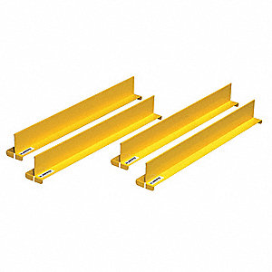 "Shelf Divider Set, Steel, Yellow, 2"" x 2-1/32"" x 18-11/64"""