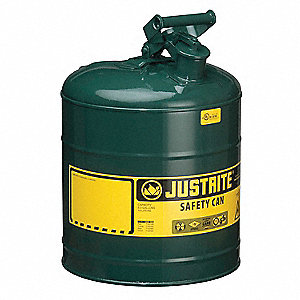 Type I Safety Can,5 gal,Green,16-7/8In H