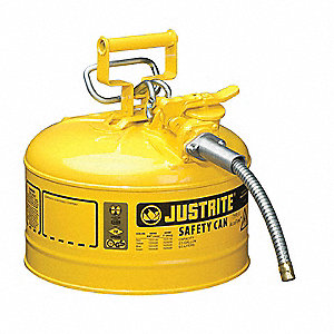 Type II Safety Can,Yellow,12 In. H