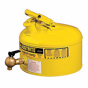 Type I Can Type, 2-1/2 gal., Diesel, Galvanized Steel, Yellow