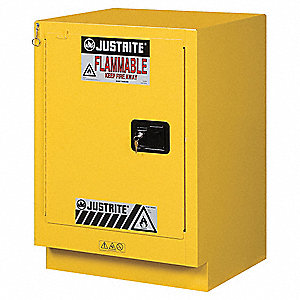 Flammable Safety Cabinet,15 Gal.,Yellow
