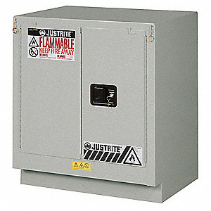 Flammable Safety Cabinet,19 Gal.,Silver