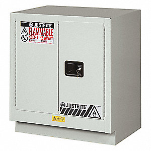 "30"" x 21-5/8"" x 35-3/4"" Steel Corrosive Safety Cabinet, Light Neutral"
