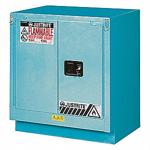 "30"" x 21-5/8"" x 35-3/4"" Steel Corrosive Safety Cabinet, Blue"