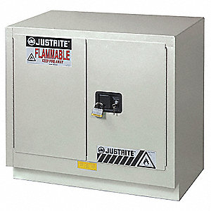 "36"" x 21-5/8"" x 35-3/4"" Galvanized Steel Flammable Liquid Safety Cabinet with Manual Doors, Light Ne"