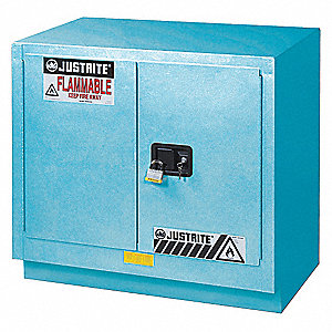 Corrosive Safety Cabinet,Blue,23 gal.