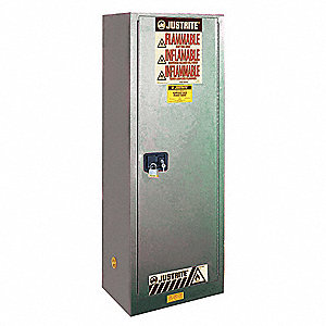 "22 gal. Flammable Cabinet, 65"" x 23-1/4"" x 18"", Manual Door Type"