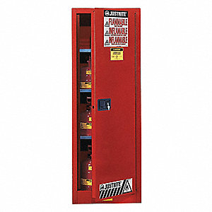 "36 gal. Flammable Cabinet, 65"" x 23-1/4"" x 18"", Self-Closing Door Type"