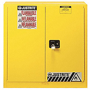 Wonderful Flammable Safety Cabinet,30 Gal.,Yellow