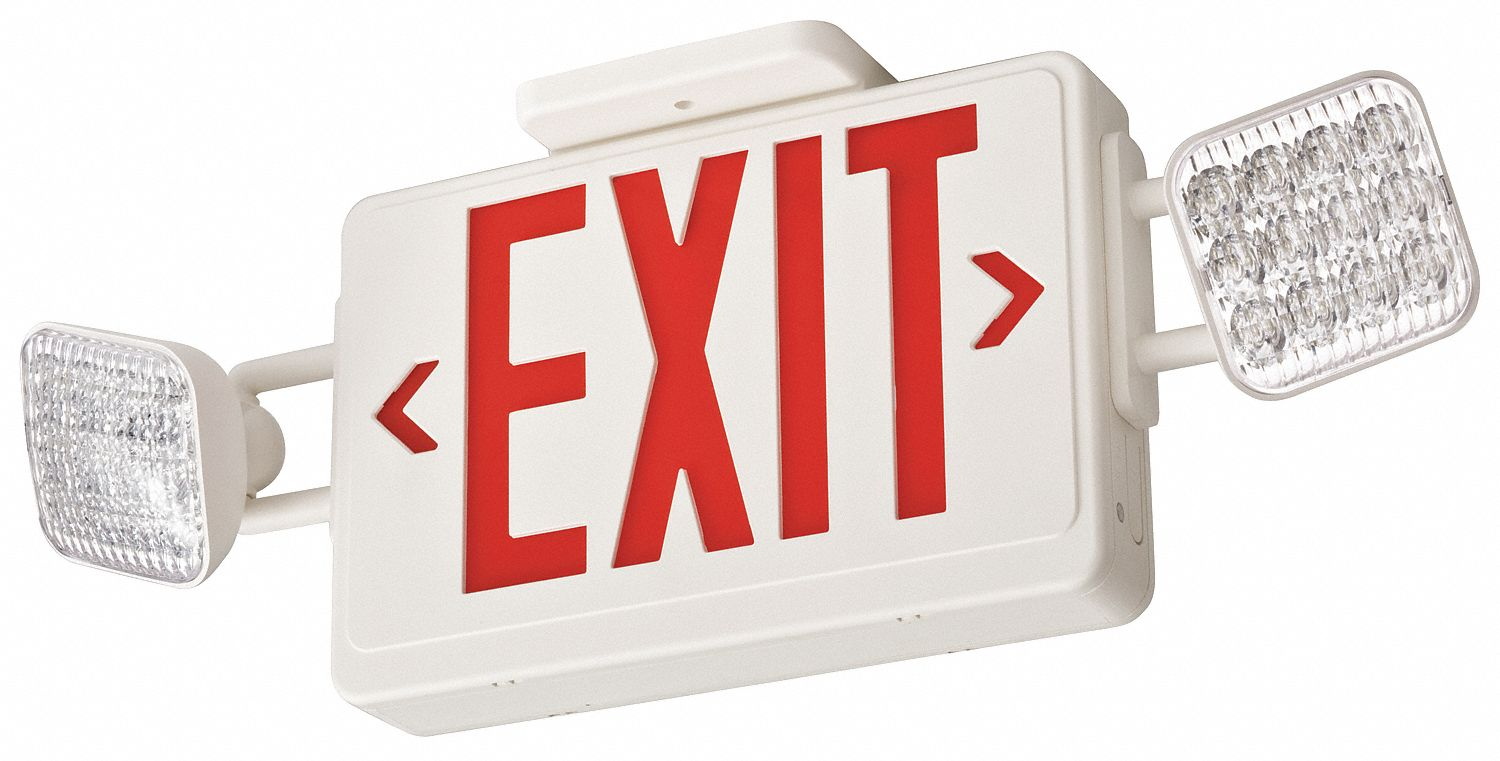 Exit Sign And Light Combinations