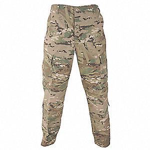 "Men's Tactical Pants. Size: 4XL, Fits Waist Size: 51"" to 54"", Inseam: 29-1/2"" to 32-1/2"", Multicam"