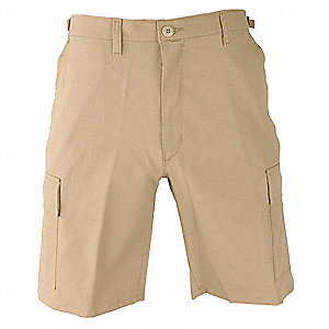 Mens Tactical Shorts,Khaki,Size 2XL