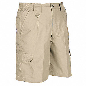 Mens Tactical Shorts,Khaki,Size 40