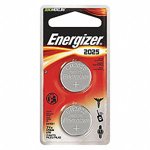 BATTERY LITH COIN TYPE ECR2025 2/PK
