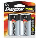 BATTERY ENERGIZER ALK 1.5V D 2/PK