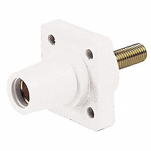 3R, 4X, 12 Taper Nose Receptacle, Female, White