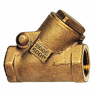 "3/4"" Swing Y Check Valve, Bronze, FNPT Connection Type"