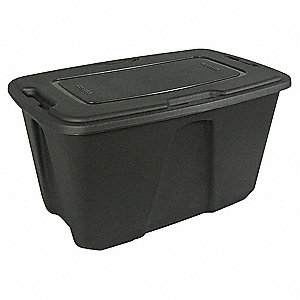 Storage Tote,49 gal.,Gray