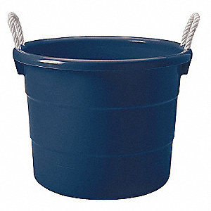 Storage Tub W/ Rope Handles,18 Gal,Navy