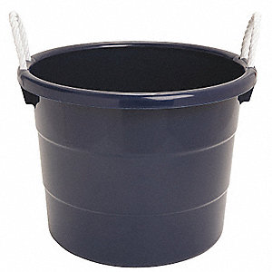 Storage Tub w/ Rope Handles,10 Gal,Navy