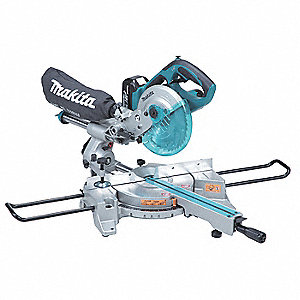 "Cordless Sliding Miter Saw Kit, 7-1/2"" Blade Dia., Voltage 18.0 Li-Ion, Battery Included"