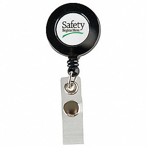 Badge Holder, Safety Begins Here, PK10