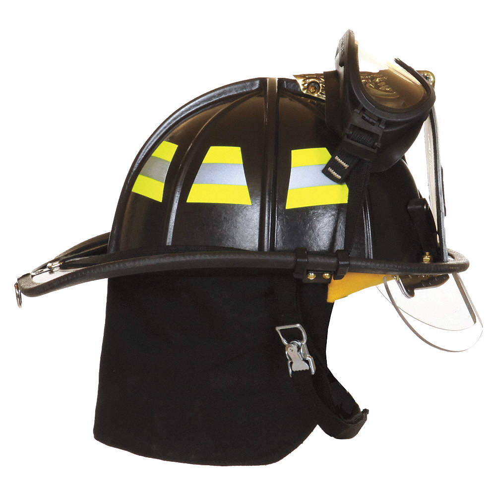Custom Leather Fire Helmet Chin Strap Ash Cycles