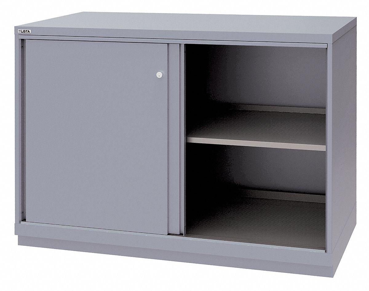 LISTA Base Cabinet, Sliding Doors, 56 1/2 inW x 28 1/2 inD ...