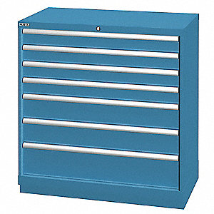 "Stationary Counter Height Modular Drawer Cabinet, 7 Drawers, 40-1/4""W x 22-1/2""D x 41-3/4""H"