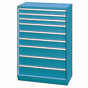 "Modular Drawer Cabinet, 59-1/2"" Overall Height, 40-1/4"" Overall Width, 22-1/2"" Overall Depth"