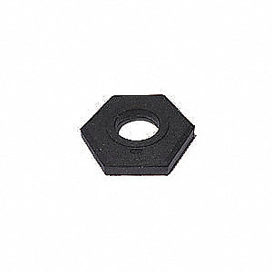 "Delineator Base, Black, 14"" x 14"" x 3"", 15 lb., Recycled Rubber"