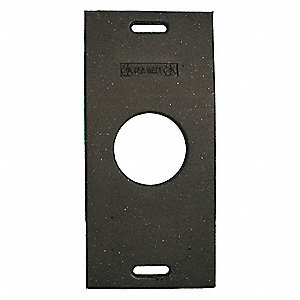 "Trim Line Base, Black, 30"" x 14-1/2"" x 3"", 30 lb., Recycled Rubber"