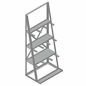 Vertical Bar Rack,36-1/4In Wx85In H
